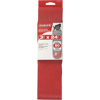 DIABLO 3 x 24″ 80 Grit Sanding Belt