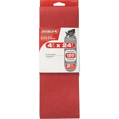DIABLO 4 x 24″ 120 Grit Sanding Belt