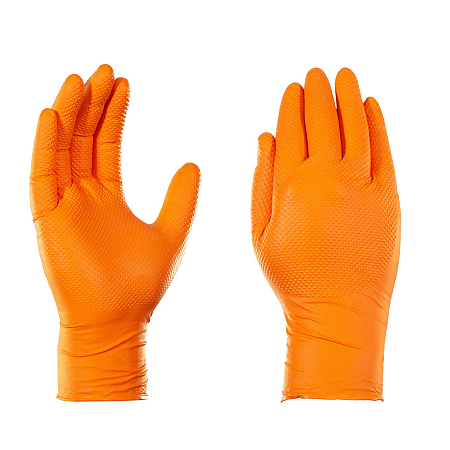 TightGripps 6 Mil Orange Nitrile Gloves