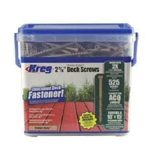 Kreg 2-5/8″ Coarse 525CT Deck Screws