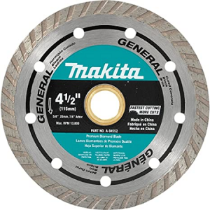 Makita 4-1/2″ Turbo Continuous Rim Diamond Blade