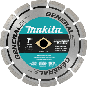 Makita 7″ Segmented General Purpose Diamond Blade