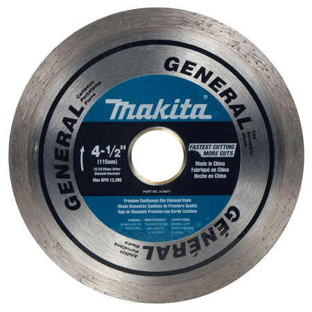 Makita 4-1/2″ Continuous General Purpose Diamond Blade