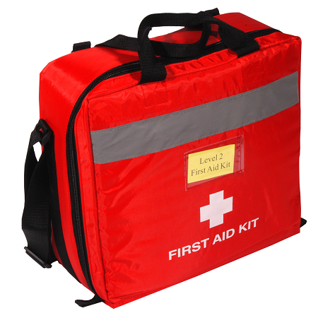 HTT BC Level 2 First Aid Kit With Airway Kit Nylon Pouch