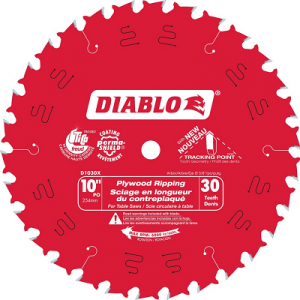 DIABLO 10″ x 30T Plywood Ripping Saw Blade