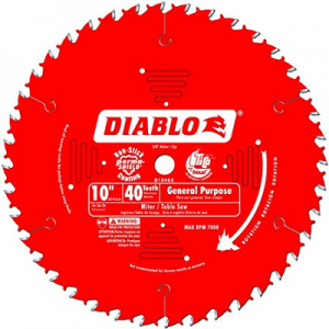 DIABLO 10″ x 40T General Purpose Saw Blade