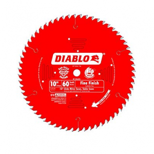 DIABLO 10″ x 60T Fine Finish Slide Miter Saw Blade