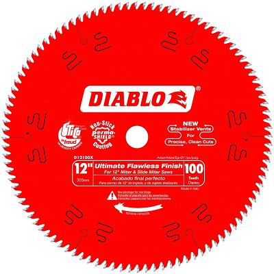 DIABLO 12″ x 100T Ultimate Polished Fine Finish Saw Blade