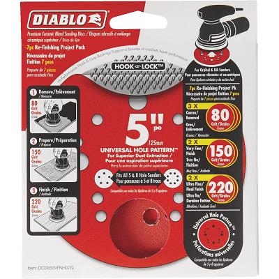 DIABLO 5″Sanding Disc Multi Pack 80G, 150G, 220G