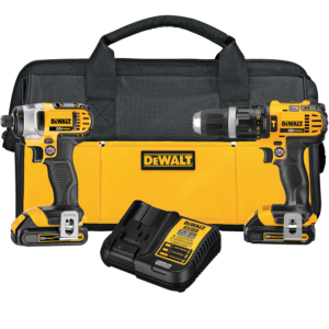 DeWalt 20V 1/2″ Hammer Drill/Driver and 1/4″ Impact Driver 2 Piece Combo Kit