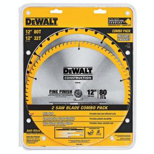 DeWalt 12″ 32T + 80T 2 Pack Miter Saw Blades