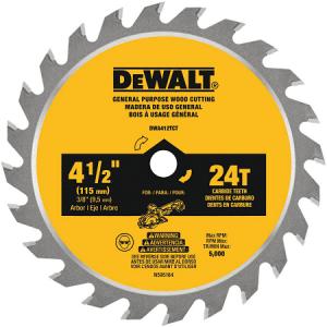 DeWalt 4-1/2″ x 24T Wood Blade