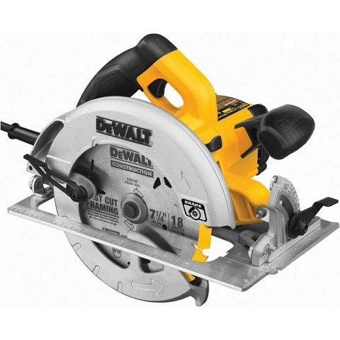 DeWalt 7-1/4″ Lightweight Circular Saw with Electrical Brake