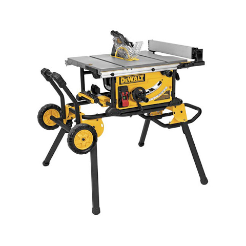 DeWalt 10″ Table Saw with Rolling Stand