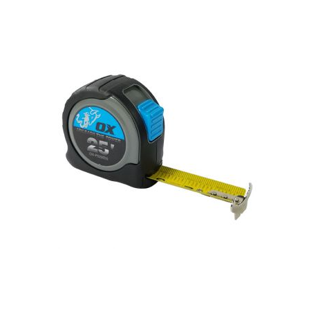 Ox 25′ Stainless Steal Housing Tape Measure
