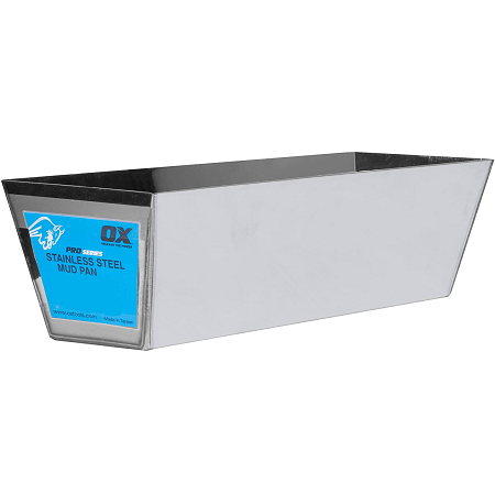 OX 14″ Pro Stainless Steel Mud Pan