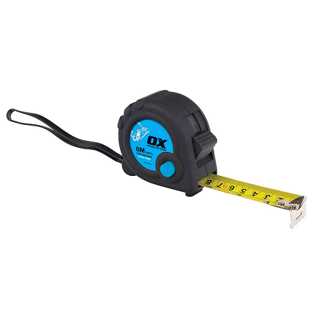 OX Trade Tape Measure – 8m / 26ft