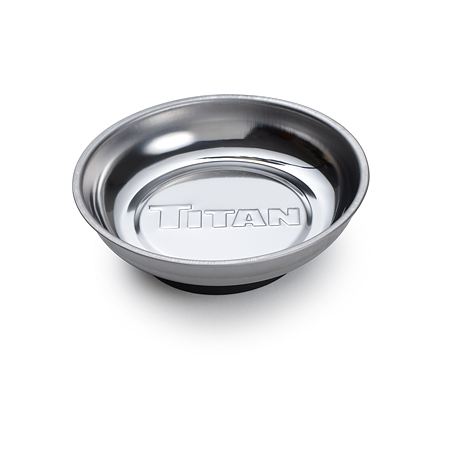 Titan 4-1/4″ Round Magnetic Parts Tray